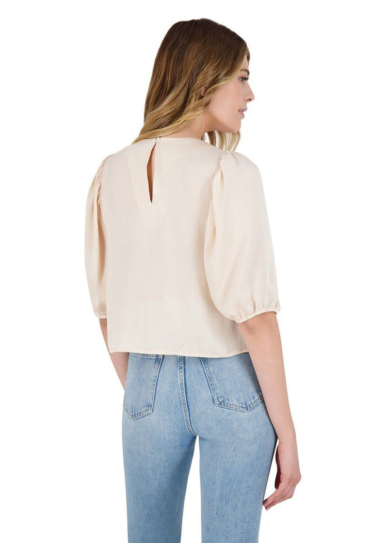 Sleeve Me In Charge Top - Alabaster