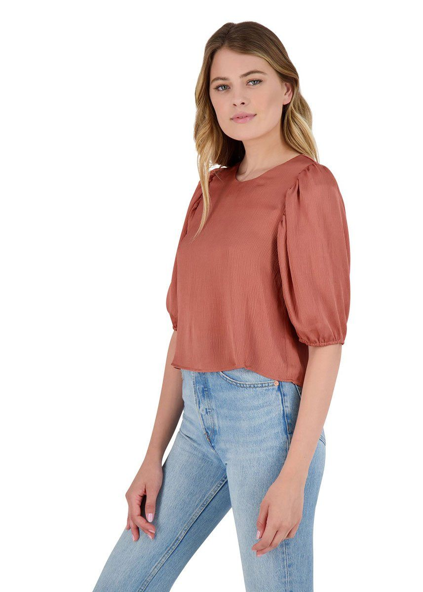 Sleeve Me In Charge Top - Terracotta