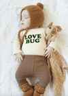 Love Bug Long Sleeve Bodysuit - Olive