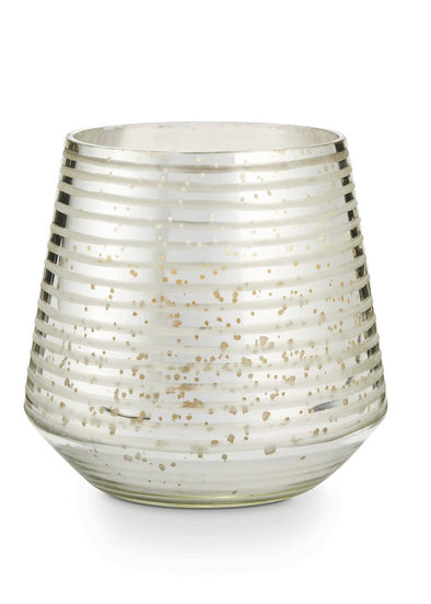 Balsam & Cedar Large Etched Mercury Glass Candle