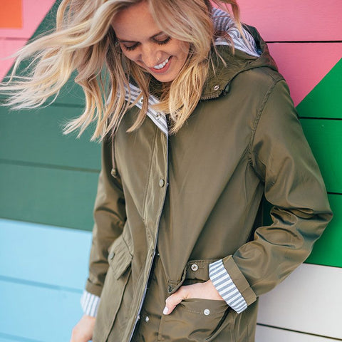 Beecher Rain Jacket - Olive
