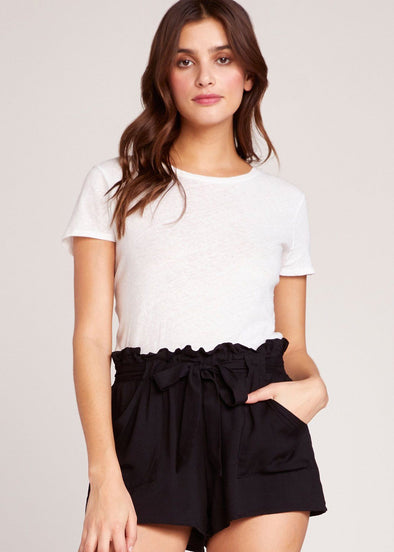Belt It Out Paper Bag Shorts - Black