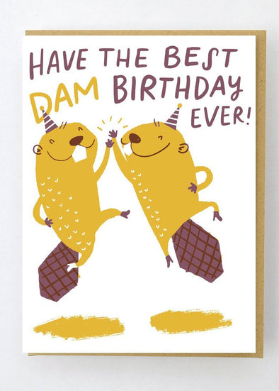 Best Dam Birthday Card