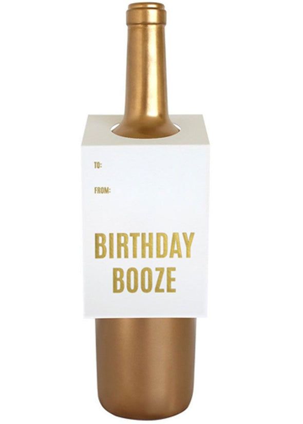 Birthday Booze Wine Tag