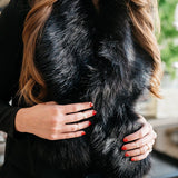 Charolette Faux Fur Stole - Black