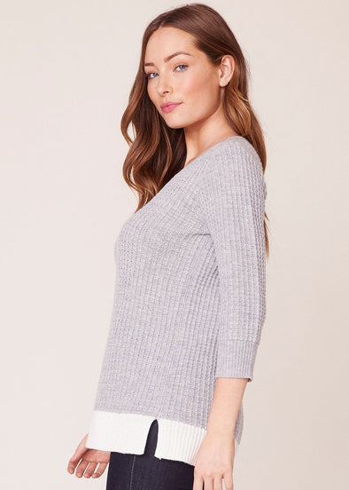 Block It Out Sweater - Grey