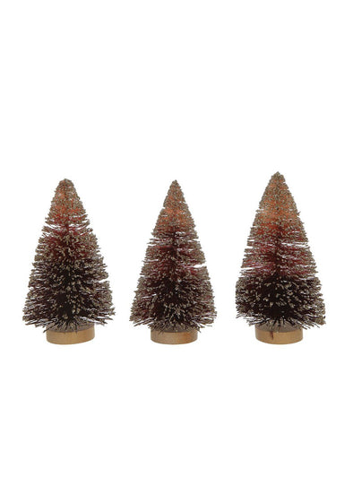 Bottle Brush Tree Set - Burgundy