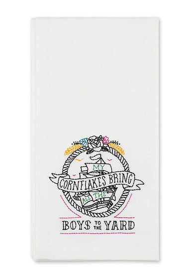 Boys to the Yard Tea Towel