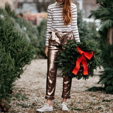 Bryleigh Bow Sequin Pants