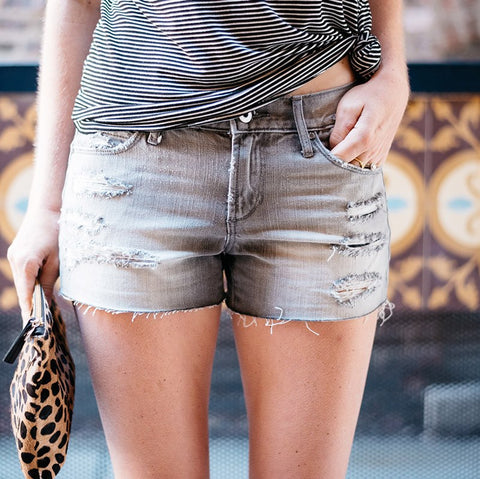 Cabo Distressed Jean Shorts