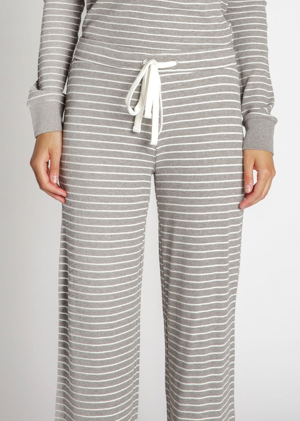 Carlisle Thermal Pants - Heather Grey Stripe