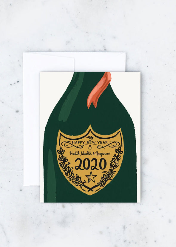 Champagne Year Card