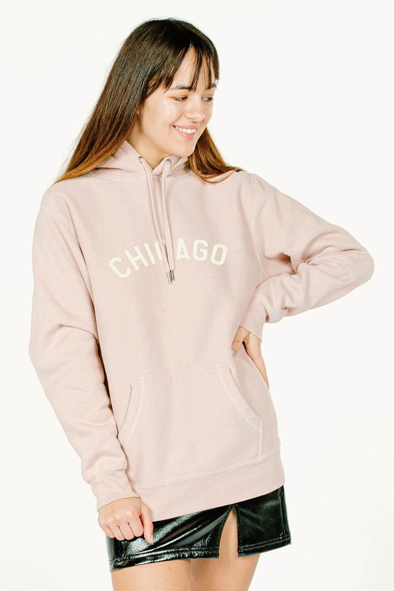 Sweet Home Chicago Hoodie - Blush