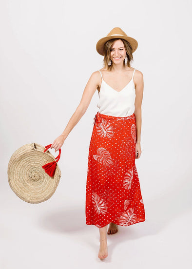 Clementine Wrap Front Maxi Skirt