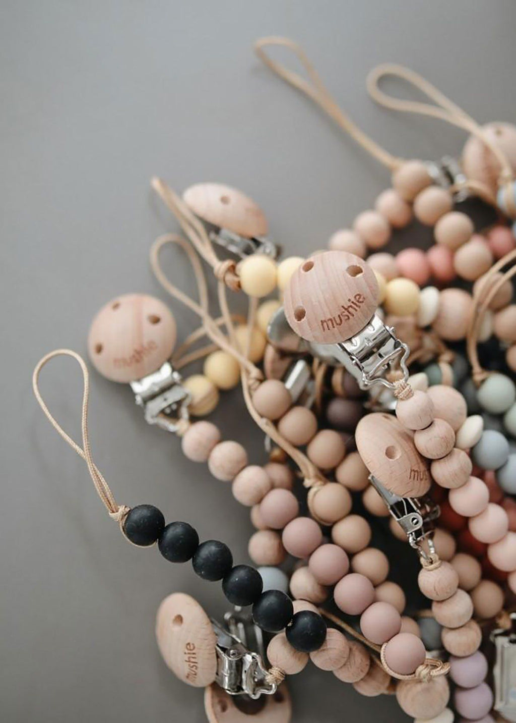Halo Pacifier Clip - Dried Thyme