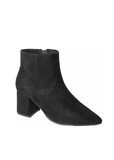 Clifton Faux-Suede Ankle Bootie - Black