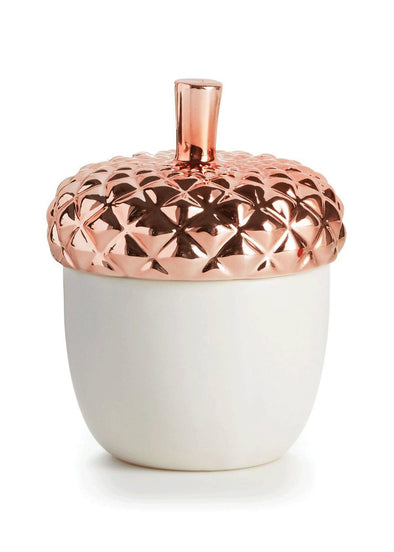 Copper Leaves Novelty Ceramic Candle