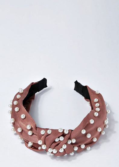 Pearl Headband - Copper