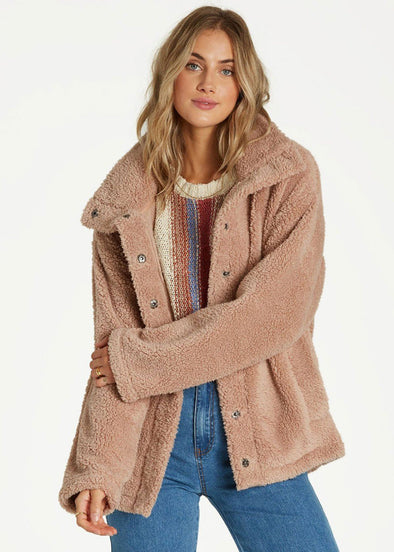 Cozy Days Sherpa Jacket - Warm Sand