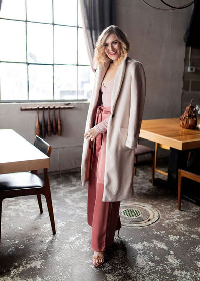 Florence Ivory Long Trench Coat