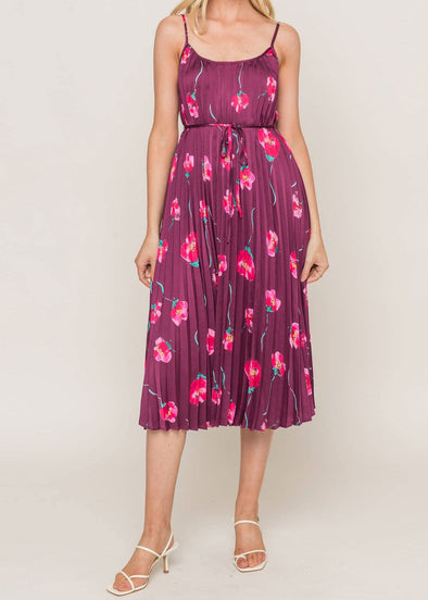Tay Pleated Midi Dress