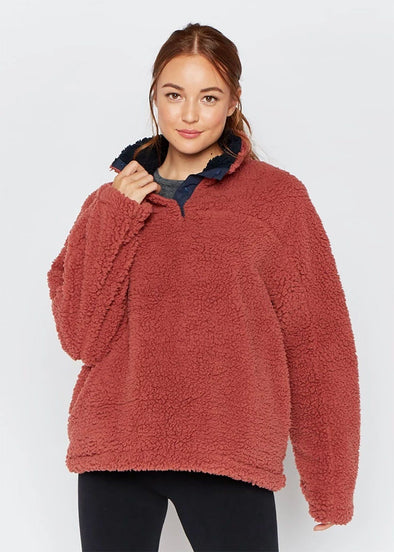 Daydream Reversible Pullover - Spice and Navy