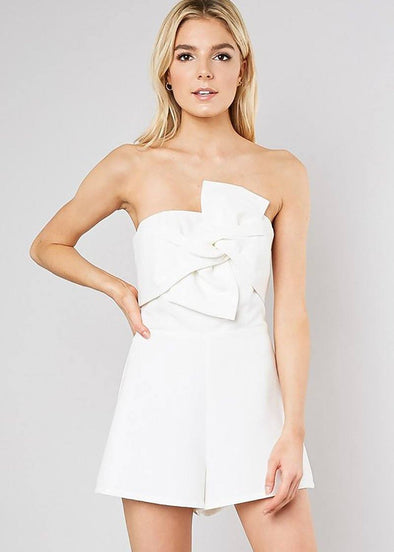 Do The Twist Romper - White