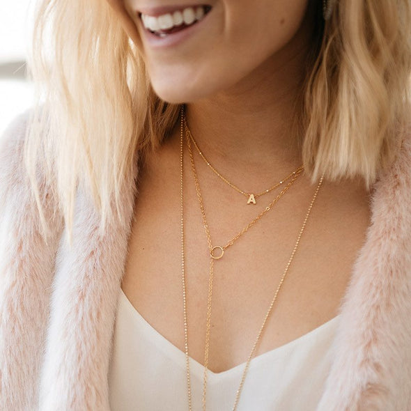 The L Chain Initial Necklace