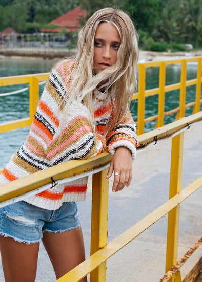 Easy Going Cropped Sweater - Samba