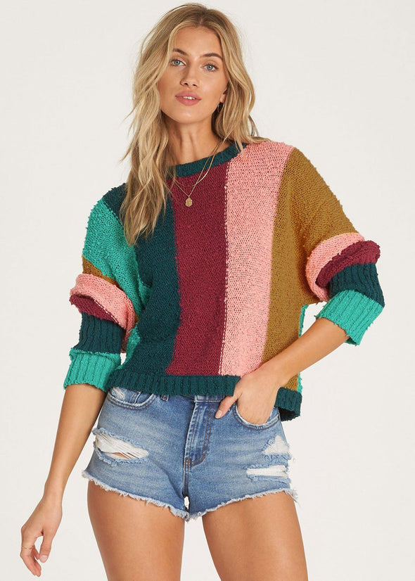 Easy Going Cropped Sweater - Deep Jade