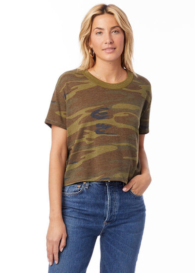 Eco Headliner Cropped Tee - Camo