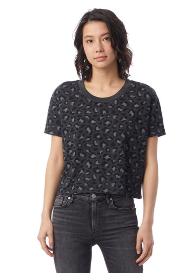 Eco Headliner Cropped Tee - Leopard