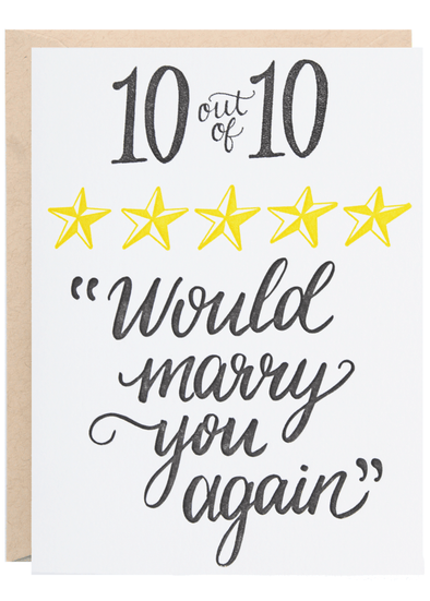 Marry You Again Greeting Card