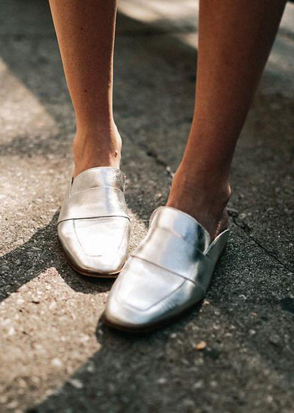 Free People At Ease Loafer - Silver