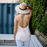 Fayette Cross-Back Tank - Peach