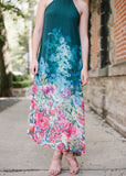 Fia Floral High-Neck Maxi