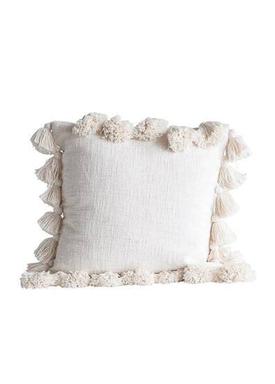 Genevieve Cream Tassel Pillow