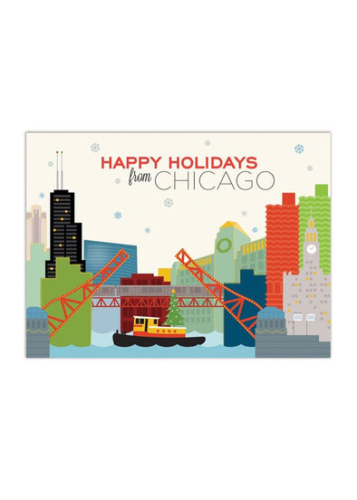 Chicago River Holiday Card