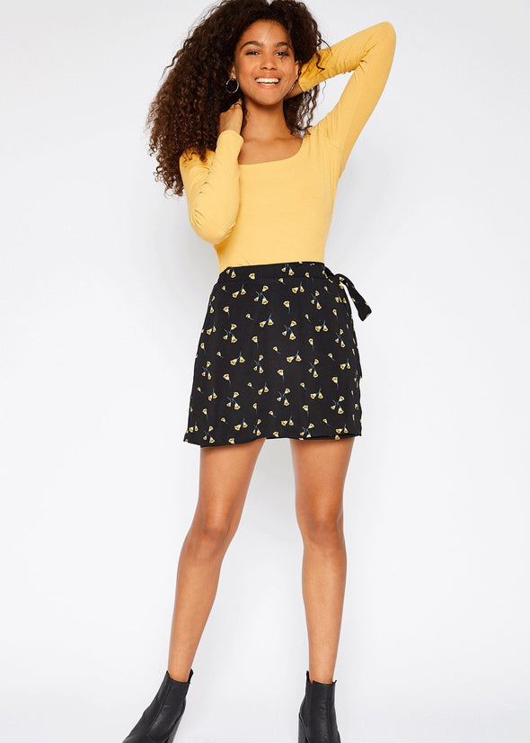 Hadley Floral Wrap Mini Skirt