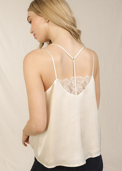 Haley Silk Racerback Lace Cami