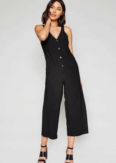 Havana Button Down Jumpsuit