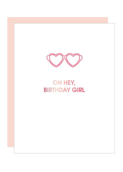 Hey Birthday Girl Paper Clip Foil Card