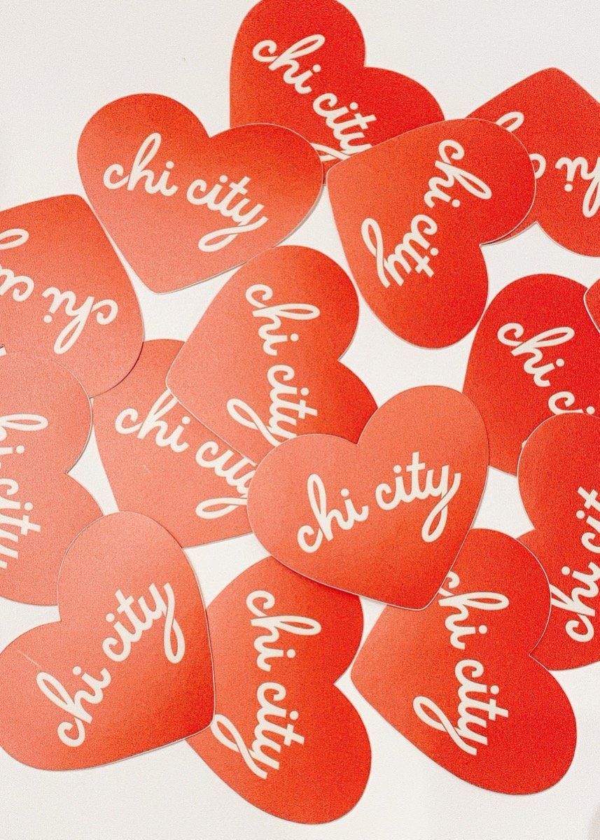 Chi City Heart Sticker