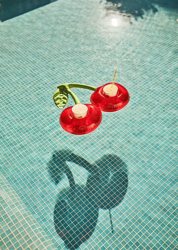 Inflatable Drink Holder - Cherry