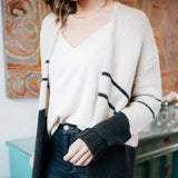 Jayce Black Stripe Sweater