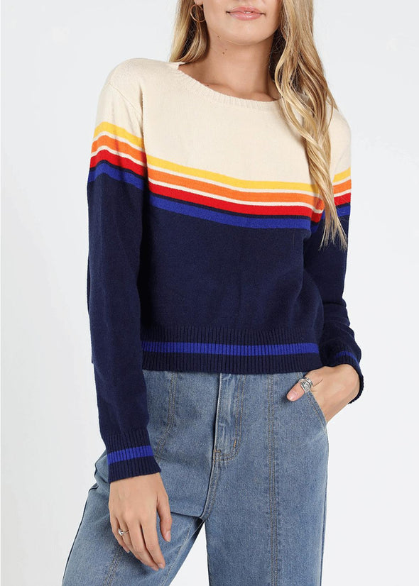 Karlee Retro Stripe Sweater