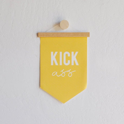 Kick Ass Hanging Canvas Banner