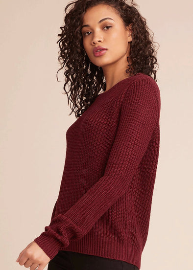Know Thy Self Crew Neck Sweater - Cranberry