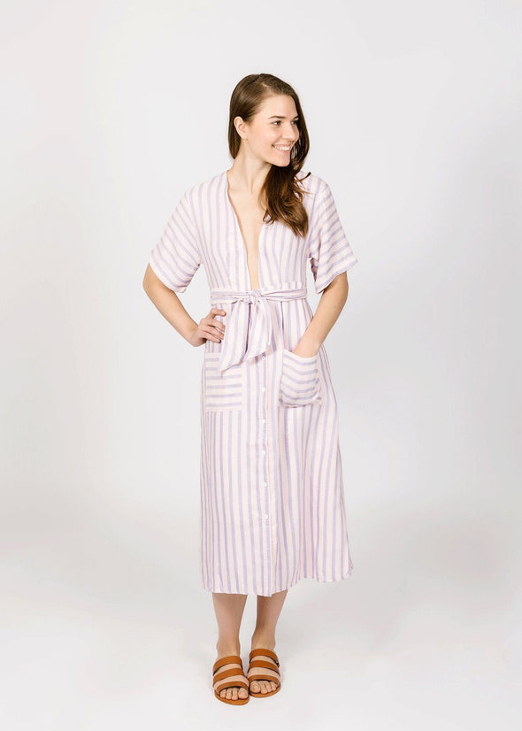 Lacie Lavender Stripe Dress
