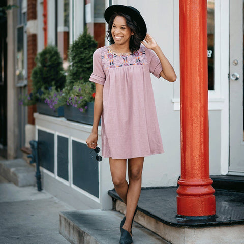 Mini Obsessions Swing Dress - Mauve